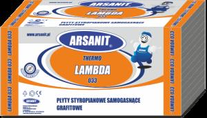 Płyty Lambda 033 grafitowe Arsanit samogasnące